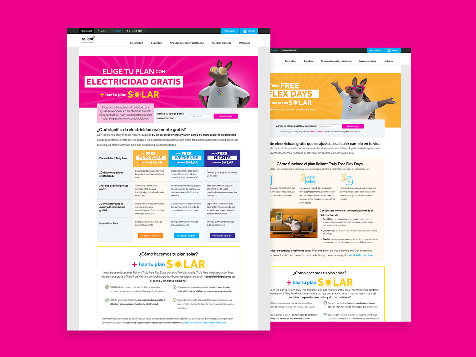 Reliant 2021 Mass Landing Pages